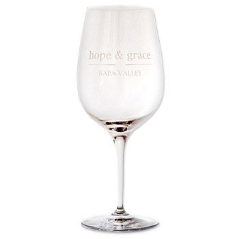 hope & grace Bordeaux Logo Glass
