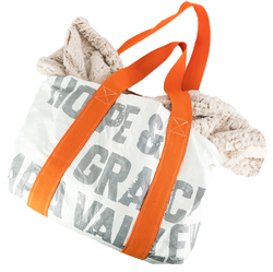 hope & grace Orange Tote