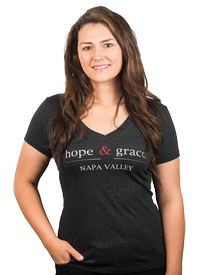 hope & grace V-Neck Women's T-Shirt,  Charcoal